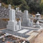 京都府西舞鶴寺墓地にて9寸新墓石建立と耐震防草工事