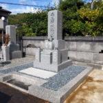 京都府西舞鶴伊佐津墓地にて新墓建立工事