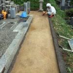 京都府舞鶴市西舞鶴地域共同墓地にて墓地周囲防草工事